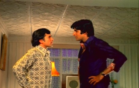 Amitabh and  Rajesh Khanna in Namak Haram, 1973